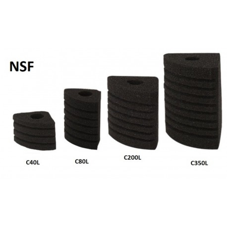 Gąbka do filtra NSF C350L Corner 04